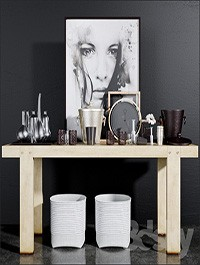 Decorative console table set - 2