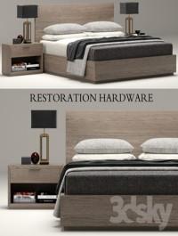 RH Modern Machinto bed