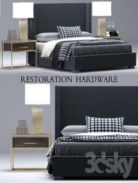 RH Modern custom shelter platform bed