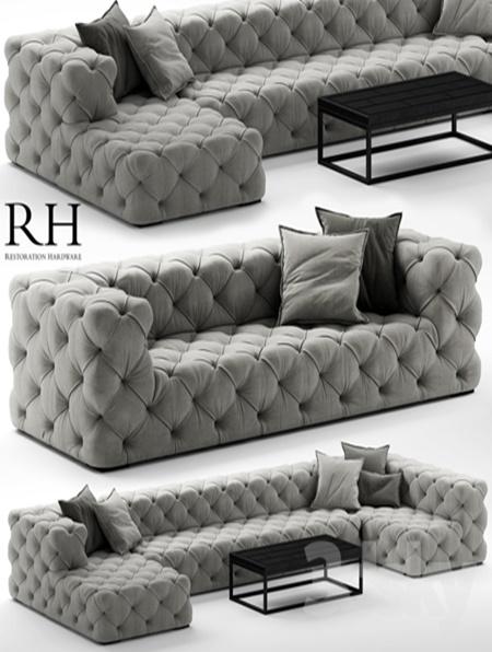 Sofa Rh Soho Tufted
