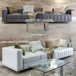 Sofa FREEMAN (two options) lamp FLOS table PLINSKY
