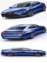 Lexus ES F-Sport 2019 3D Model