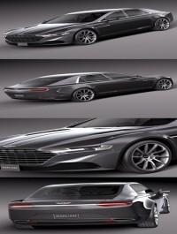 Aston Martin Lagonda 2016 3D Model