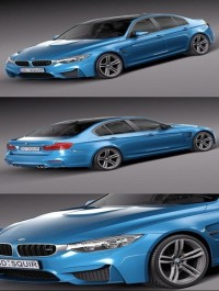 BMW M3 F30 Sedan 2015 3D Model
