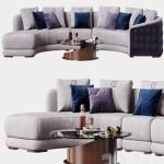 Carpanelli Contemporary Desyo Sofa Curvy Table Minerva