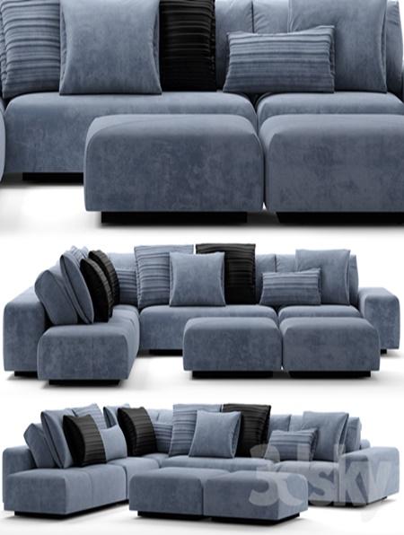 Sofa baxter monsieur modular for Baxter monsieur