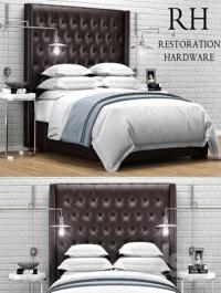Restoration Hardware Adler Leather Tufted bed