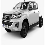 Toyota Hilux Double Cab Chassis SR 2019 3D model