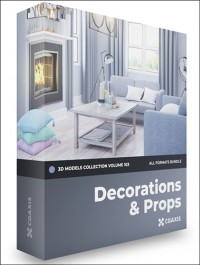CGAXIS Decorations 3D Models Collection Volume 103