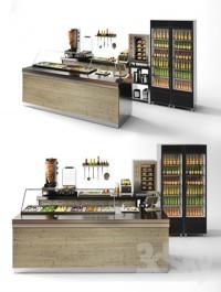 Set for a cafe