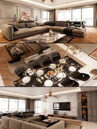 Fold Apartment Full Interior Scene [Living Room, Bedroom & Kitchen]