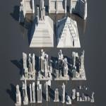 CGTRADER MODERN SCI-FI BUILDINGS KITBASH 3D model