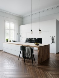 Cgtrader White Kitchen by Kvik 3D model
