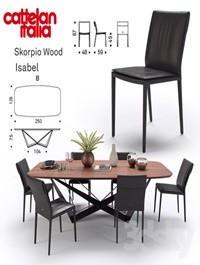 Table Scorpio Wood \ Chair Isabel \ Cattelan Italia