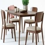 Scandinavian Designs Juneau Dining Table & Juneau Dining Chair