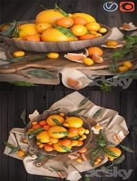 Oranges 3d Model (Corona, Vray)