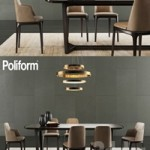Poliform Concorde Table & Grace Chair