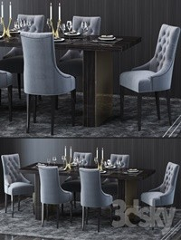Restoration Hardware Table and Chair