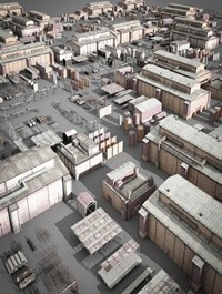 Cgtrader lowpoly buildings industry Low-poly 3D model