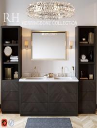 RH Herringbone Collection 3d Model (Vray, Corona)