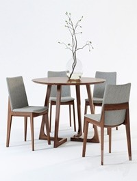 Scandinavian Designs Fuchsia Dining Chair Cress Round Dining Table