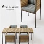 Skargaarden Haringe armchair + table