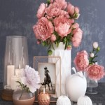Decorative set with peonies