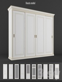 4-door wardrobe. Rossta furniture.