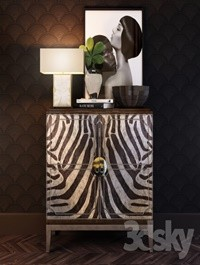 Horchow Vanna Zebra Cabinet