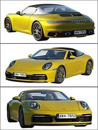 Porsche 911 Targa 2019 3D model