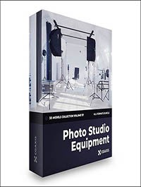 Photo Equipment 3D Models Collection – CGAxis Volume 117