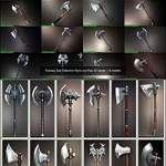 CGTrader – Fantasy Axe Collection Pack Low-Poly 3D Model