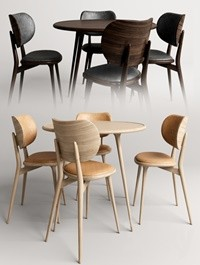 Mater The dining chair with accent dining table