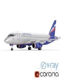 Aircraft SSJ 100 Aeroflot