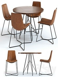 West Elm Jules Table and Slope Chairs