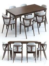 West Elm Adam Court Table and Chairs