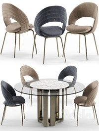 Kylo chair and table Visionnaire