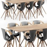 AVE TONON Up Chair & Salt and Pepper Table