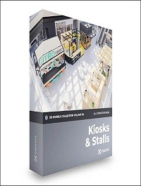 Kiosks & Stalls 3D Models Collection – CGAxis Volume 118