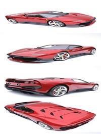 Ferrari SP38 Deborah 3d model