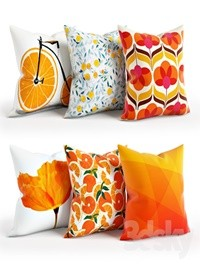 Orange Pillow Set 001