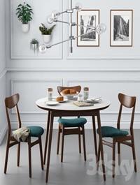 Dining set001 West Elm
