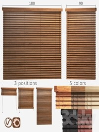 Wooden blinds 50mm, 2 options of width 90 and 180cm