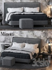 Bed by Minotti
