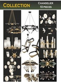 Cgtrader Chandeliers 3d models Collection 10 models Low-poly 3D model