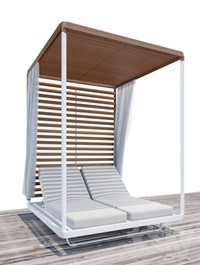 Pavilion Daybed | Tribu | Beach chaise longue | Animated
