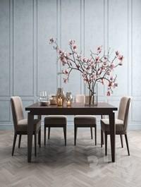 Angled-leg Expandable Table