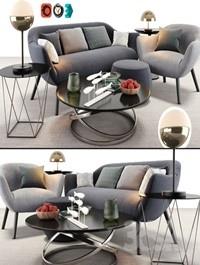 Poliform Mad Sofa Chair Set