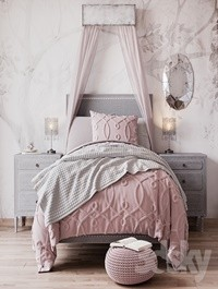 Bed MARCELLE UPHOLSTERED BED from Restoration Hardware Baby & Child