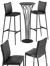 Cattelan italia Isabel barstool Nido table set